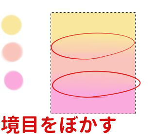 色の境目をぼかす